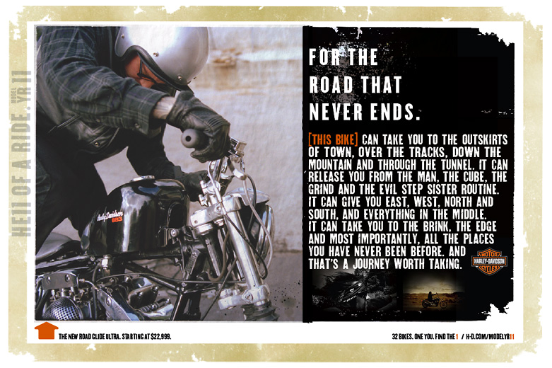 "Harley-Davidson ""Road Never Ends"""