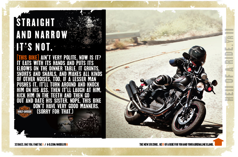 "Harley-Davidson ""Straight and Narrow"""