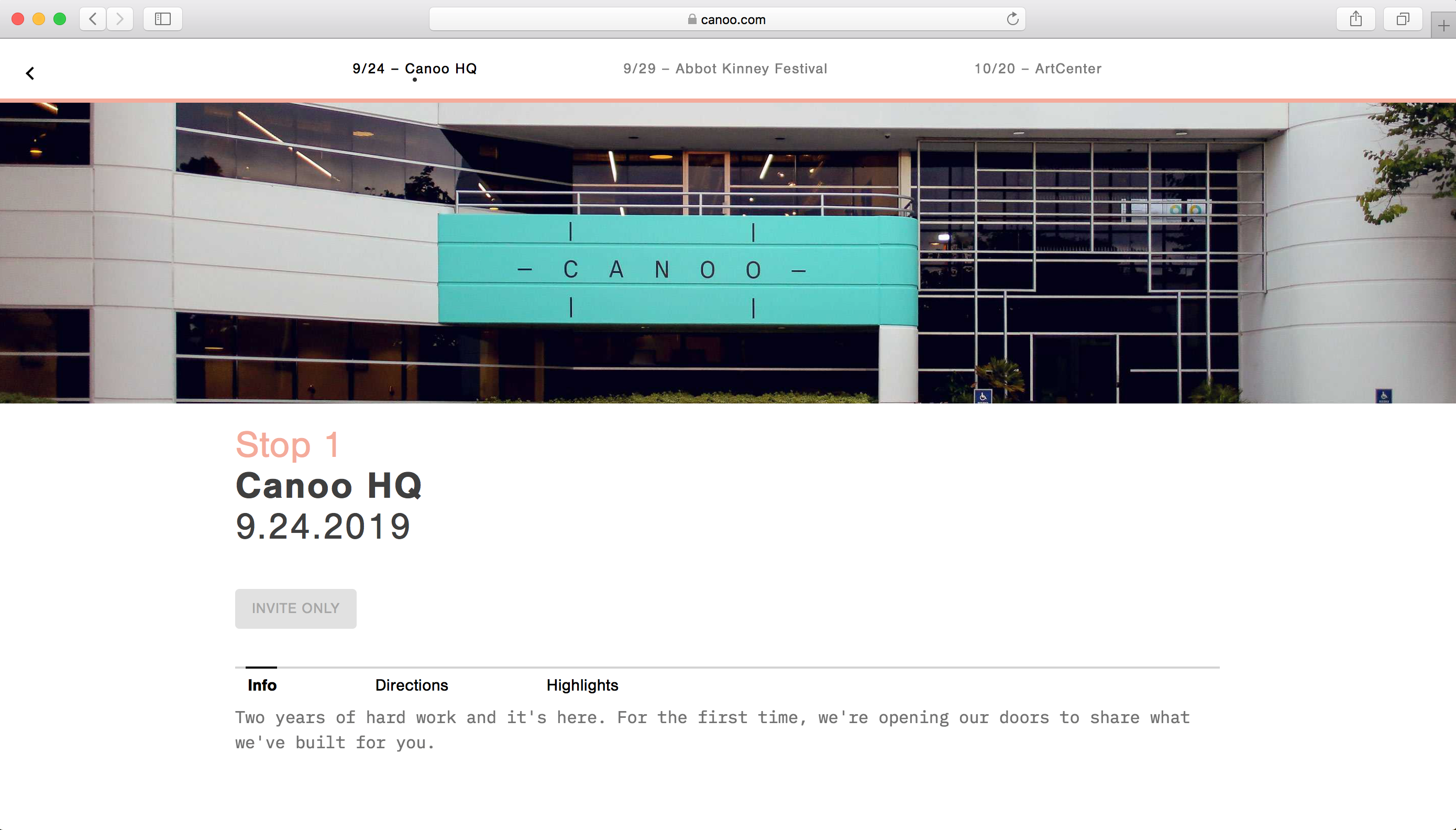 Canoo Reveal Announcement HQ