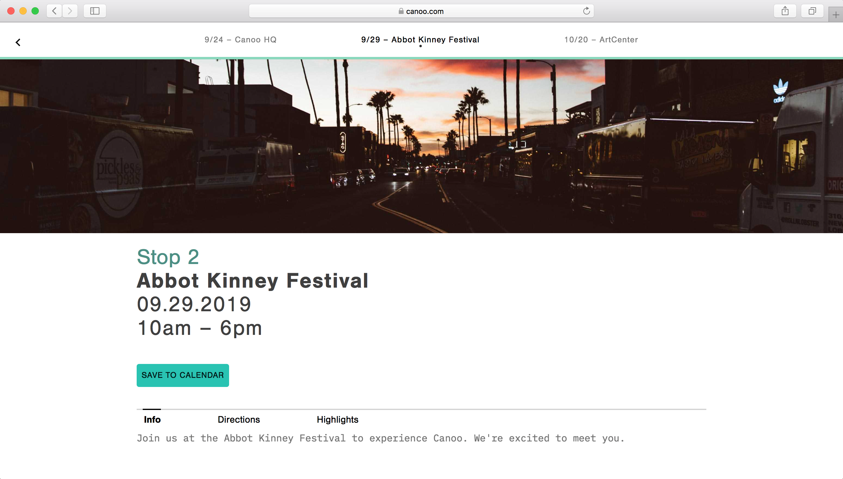 Canoo Reveal Announcement Abbott Kinney Festival