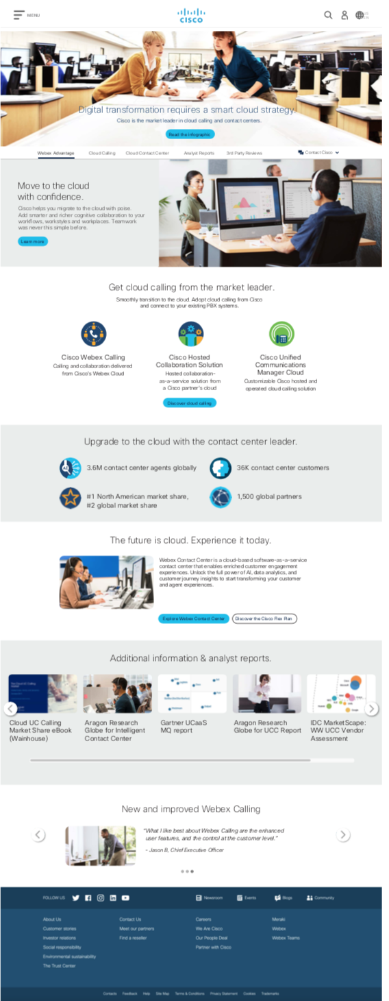 Cisco Greenfield Landing Page